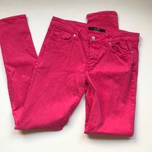 Joe's Jeans Pink ultra slim fit jeans
